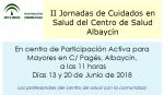II Jornadas de Cuidados en Salud del Centro de Salud Albaycín