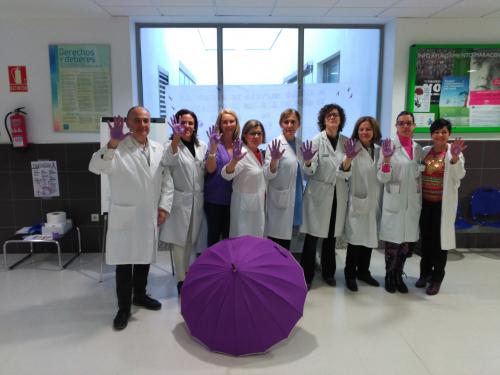"""La Unidad de Gestión Clínica de Maracena se unió el pasado día 25 a la Campaña de """"Lucha contra la Violencia de Género"""""""