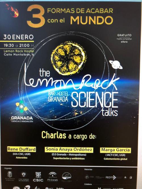 Una profesional Farmacéutica del Distrito Granada Metropolitano participa como ponente en un Proyecto de Ciencias e Innovación