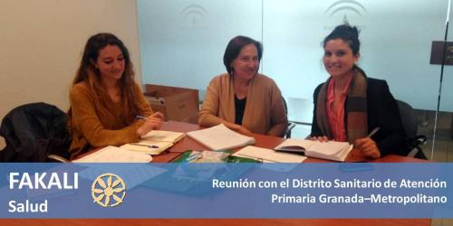 El Distrito Sanitario Granada-Metropolitano se reúne con la Asociación FAKALI