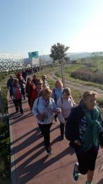 La Asociación de Vecinos Zaidín Vergeles y la UGC Zaidín Centro se suman al programa 'Por 1 Millón de Pasos'.  Los miembros de la asociación salen a caminar juntos tres veces por semana