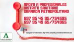Apoyo psicológico para profesionales del Distrito Granada Metropolitano